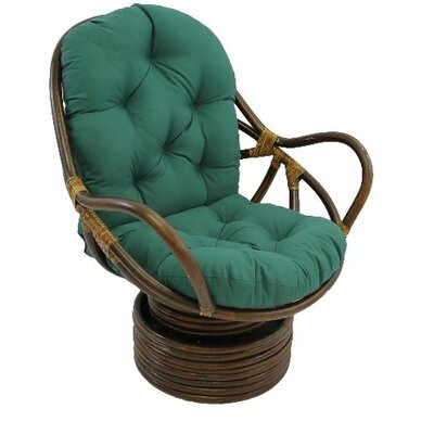 Jimena Papasan Chair Upholstery: Forest Green