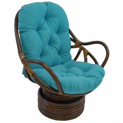 Tobago Papasan Chair Upholstery: Aqua Blue