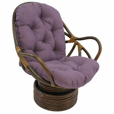 Jimena Papasan Chair Upholstery: Grape
