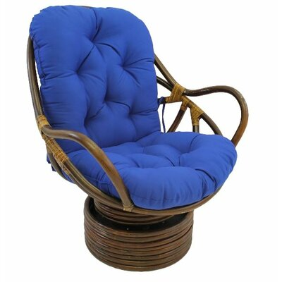 Jimena Papasan Chair Upholstery: Royal Blue
