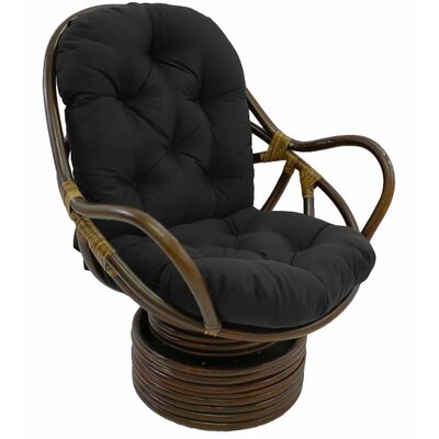 Jimena Papasan Chair Upholstery: Black
