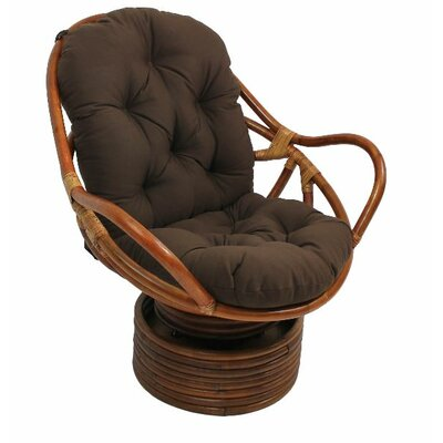Tobago Papasan Chair Upholstery: Chocolate