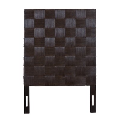 Guay Square Weave Panel Headboard Size: Twin