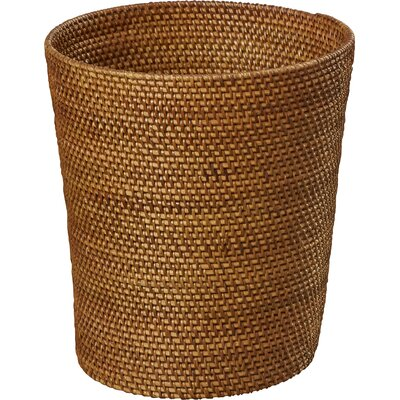 Crane Rattan Trash Can