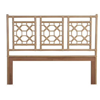 Sina Open-Frame Headboard Size: King, Color: Natural
