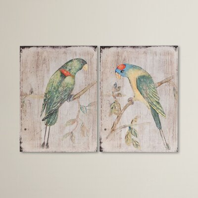 2 Piece Parrot Wall Décor Set