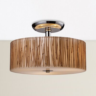 Panama City 3-Light Semi Flush Mount
