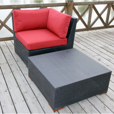 Scholtz 2 Piece Deep Seating Group with cushion Fabric Color: Red