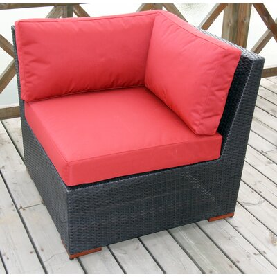 Scholtz Corner Sectional Chair with Cushion Fabric Color: Red