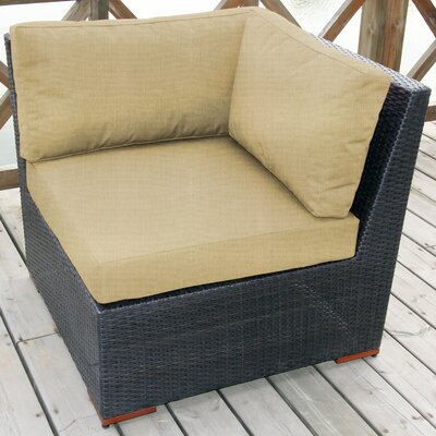 Scholtz Corner Chair with Cushion Fabric: Canvas Heather Beige