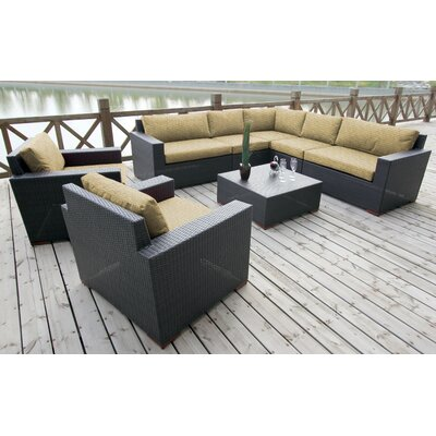 Scholtz 8 Piece Deep Seating Group with Cushion Fabric: Canvas Heather Beige