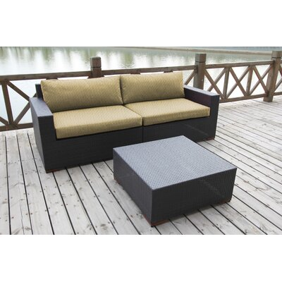 Scholtz 2 Piece Deep Seating Group with Cushion Fabric: Canvas Heather Beige
