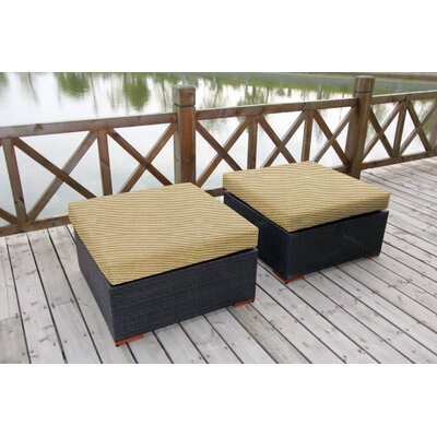 Scholtz Ottoman with Cushion Fabric: Canvas Heather Beige