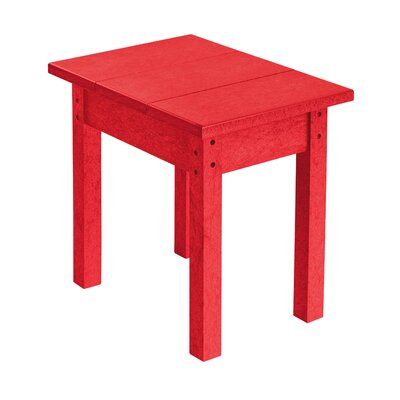 Alanna Rectangle Side Table Finish: Red