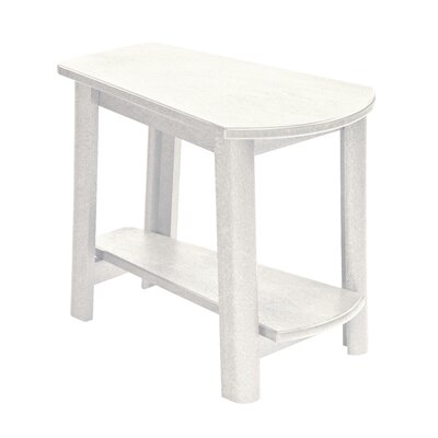 Alanna Stainless Steel Hardware Side Table Finish: White