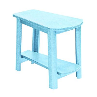 Alanna Stainless Steel Hardware Side Table Finish: Aqua