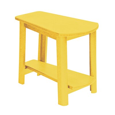 Alanna Stainless Steel Hardware Side Table Finish: Yellow