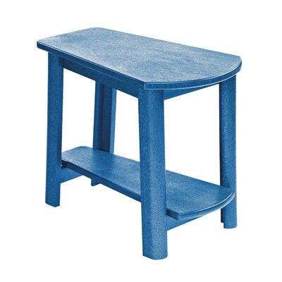 Alanna Stainless Steel Hardware Side Table Finish: Blue