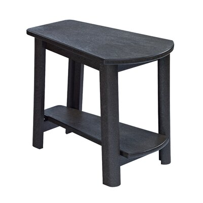 Alanna Stainless Steel Hardware Side Table Finish: Black