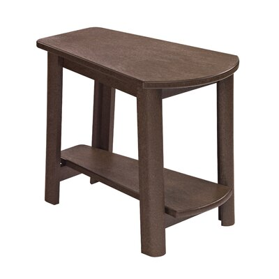 Alanna Stainless Steel Hardware Side Table Finish: Chocolate
