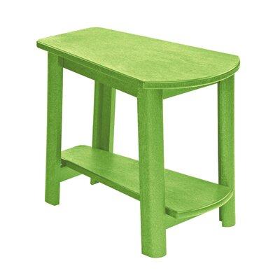 Alanna Stainless Steel Hardware Side Table Finish: Kiwi Green