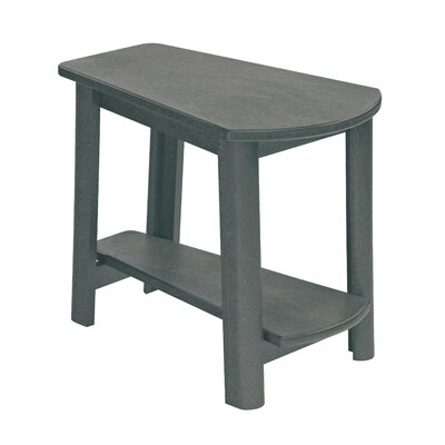Alanna Stainless Steel Hardware Side Table Finish: Slate Gray