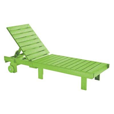 Alanna Chaise Lounge Finish: Kiwi Green