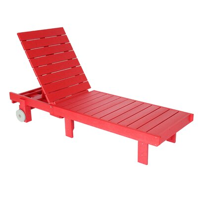 Alanna Chaise Lounge Finish: Red