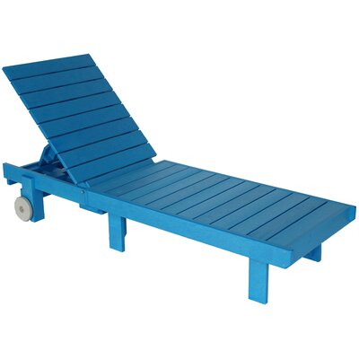 Alanna Chaise Lounge Finish: Blue