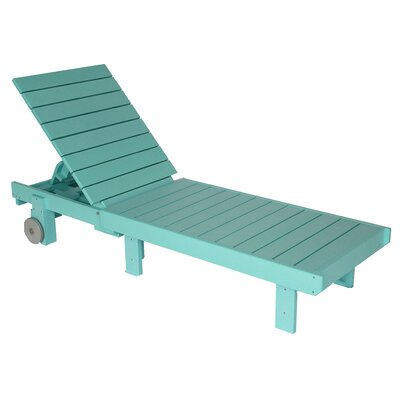 Alanna Chaise Lounge Finish: Aqua