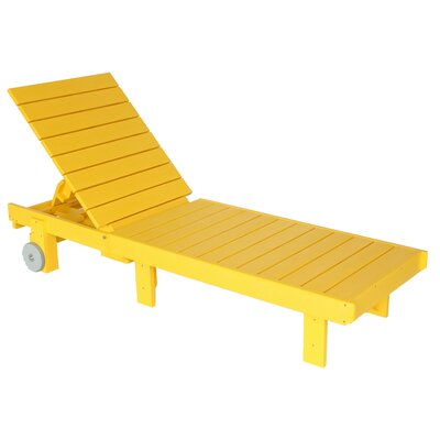 Alanna Chaise Lounge Finish: Yellow
