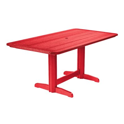 Alanna Dining Table Finish: Red