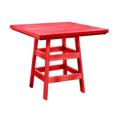 Alanna Square Bar Table Finish: Red
