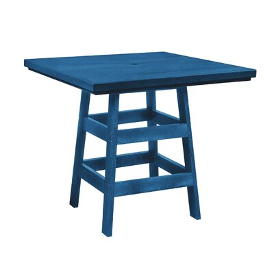Alanna Square Bar Table Finish: Blue