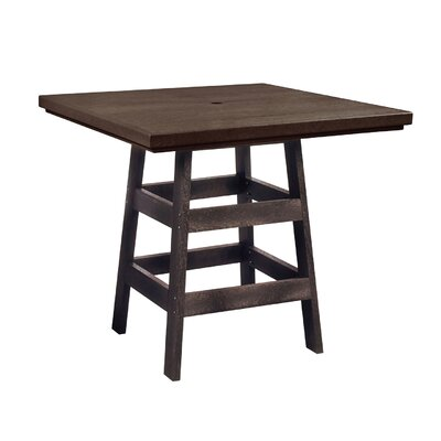 Alanna Square Bar Table Finish: Chocolate