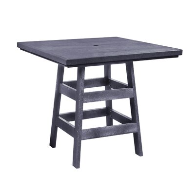 Alanna Square Bar Table Finish: Slate Gray