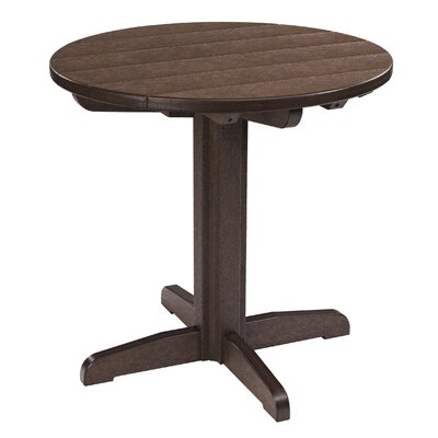 Trinidad Bistro Table Finish: Slate Grey, Table Size: 33 L x 33 W x 43 H