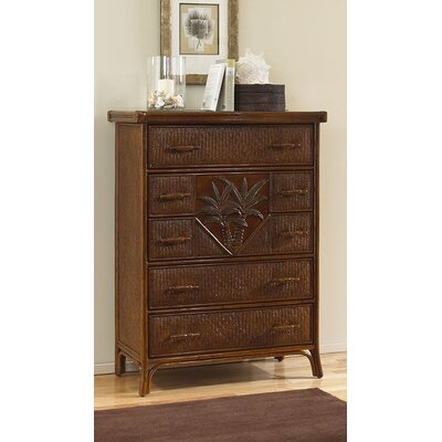 Cypress 5 Drawer Chest Option: Glass Top