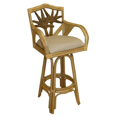 Cypress 24 Swivel Bar Stool Fabric: Beach House