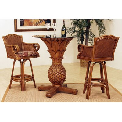 Bay Point Rattan 3 Piece Pub Table Set