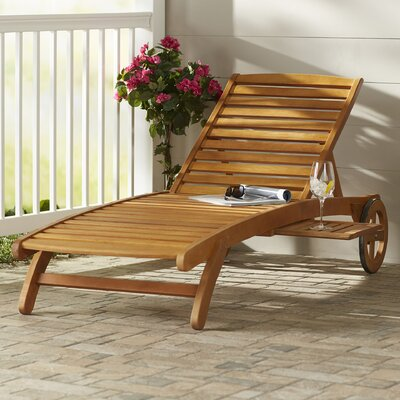 Joaquin Balau Wood Patio Chaise Lounge 1817 Item Image