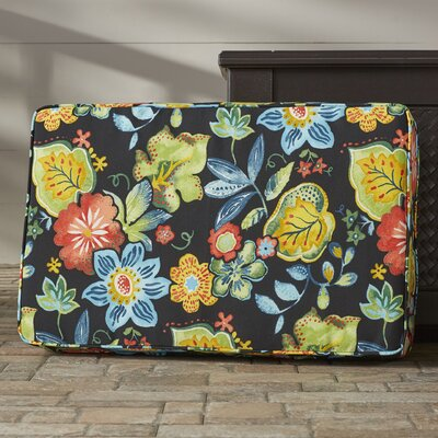 Barbuda Corded Floral Indoor/Outdoor Floor Pillow
