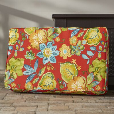 Hiawatha Beach Corded Floral Indoor/Outdoor Floor Pillow