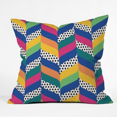 Chevron Indoor/Outdoor Throw Pillow Size: Large