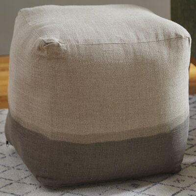 Hallie Pouf Upholstery: Light Gray