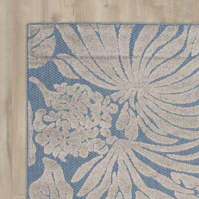 Patricia Blue Indoor/Outdoor Area Rug Rug Size: 33 x 53