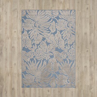 Patricia Blue Indoor/Outdoor Area Rug Rug Size: Rectangle 33 x 53