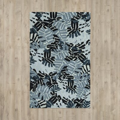 Palm Leaf Hand-Loomed Wrought / Iron Area Rug Rug Size: 4 x 6