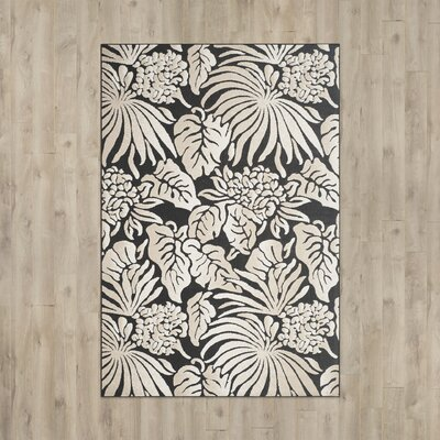Patricia Black/Beige Indoor/Outdoor Area Rug Rug Size: Rectangle 33 x 53