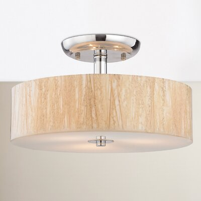 Jose 3-Light Semi Flush Mount Bulb Type: 60W Incandescent